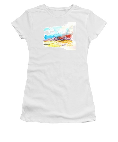 Spanish Peaks Study Women's T-Shirt (Athletic Fit)