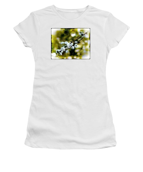 Spring Bough Women's T-Shirt (Junior Cut) by Judi Bagwell