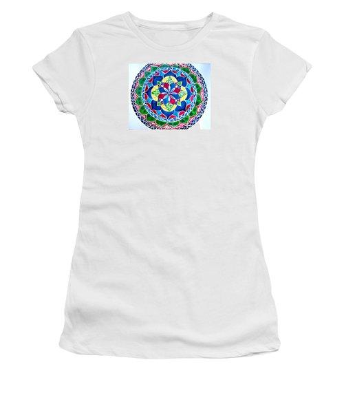 Spring Mandala Women's T-Shirt (Junior Cut) by Sandra Lira