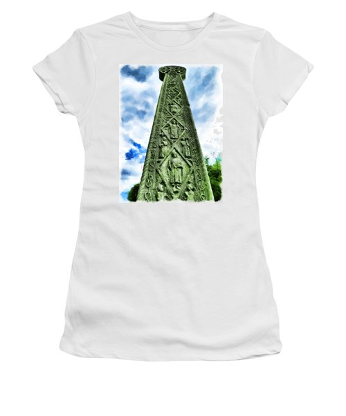 Women's T-Shirt (Junior Cut) featuring the photograph St Augustines Cross Close Up by Steve Taylor
