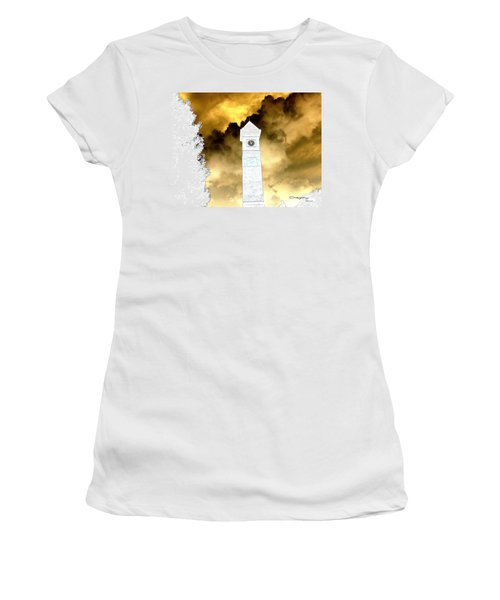 Women's T-Shirt (Junior Cut) featuring the photograph Storm Clouds by Greg Moores