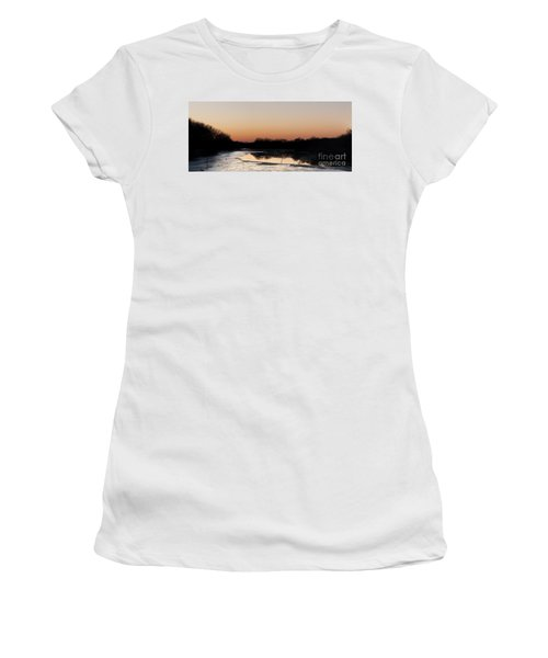 Sunset Over The Republican River Women's T-Shirt (Athletic Fit)