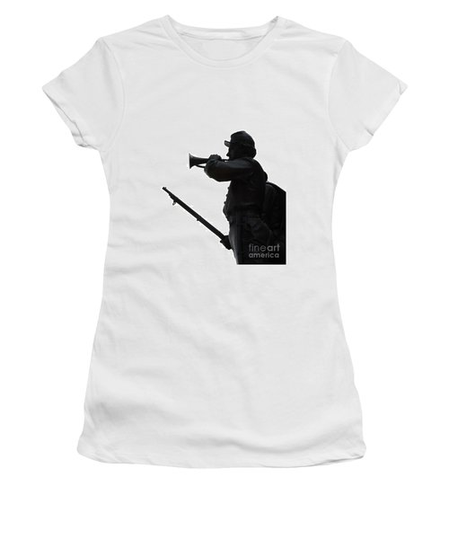 Women's T-Shirt (Junior Cut) featuring the photograph The Bugler by Cindy Manero