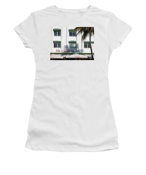 The Carlyle Hotel 2. Miami. Fl. Usa Women's T-Shirt (Athletic Fit)