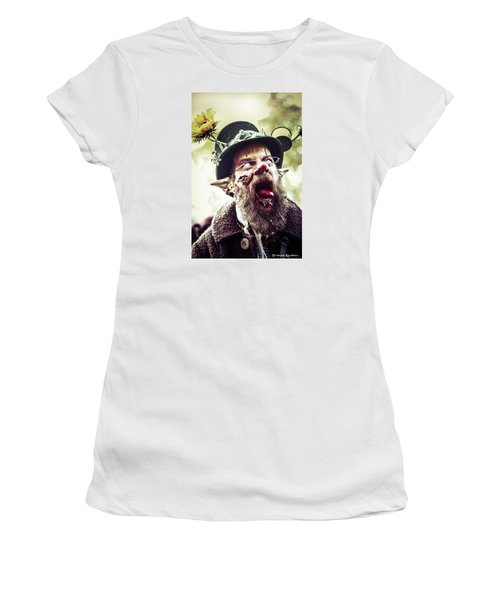 Women's T-Shirt featuring the photograph The Fool Goblin by Stwayne Keubrick