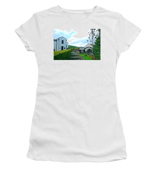 Women's T-Shirt (Junior Cut) featuring the photograph The Mill by Charlie and Norma Brock