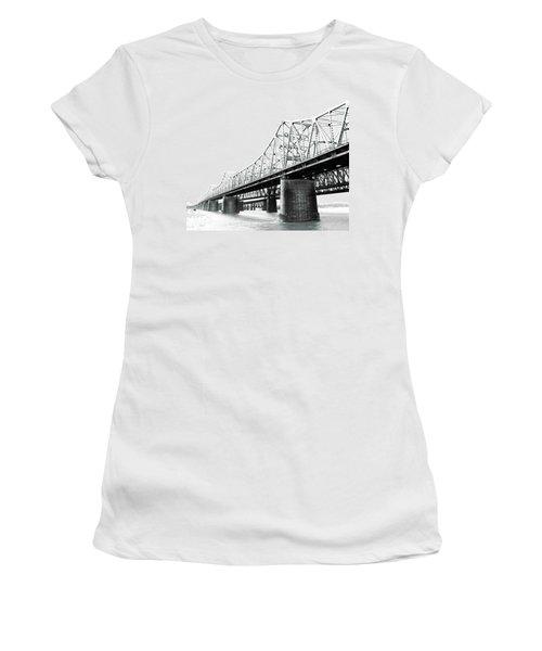 Women's T-Shirt (Junior Cut) featuring the photograph The Old Bridges At Memphis by Lizi Beard-Ward