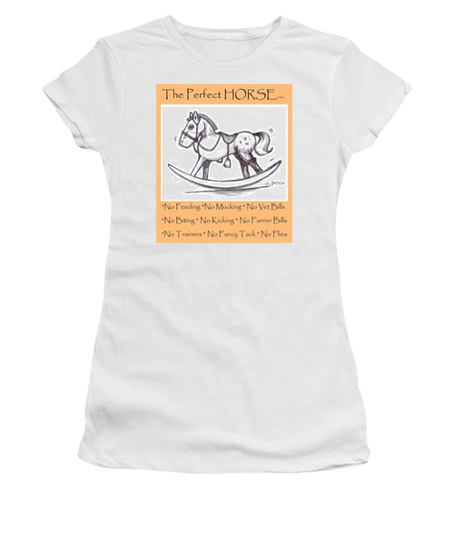Women's T-Shirt (Junior Cut) featuring the drawing the Perfect Horse by George Pedro