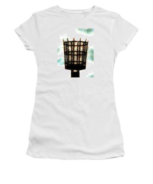 Women's T-Shirt (Junior Cut) featuring the digital art The Viking Flame  by Steve Taylor