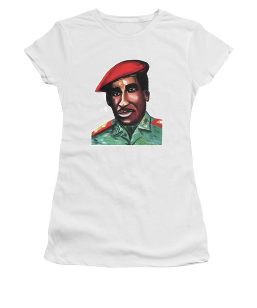 Thomas Sankara Women's T-Shirt (Junior Cut) by Emmanuel Baliyanga