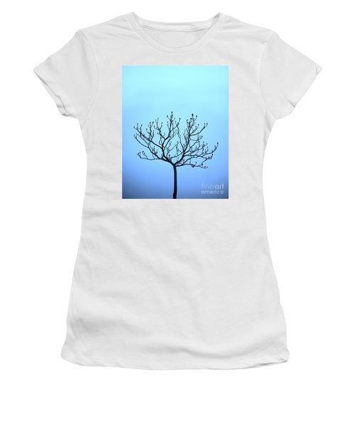 Tree With The Blues Women's T-Shirt (Athletic Fit)
