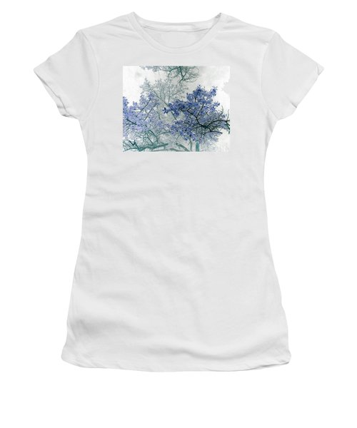 Trees Above Women's T-Shirt (Junior Cut) by Rebecca Margraf
