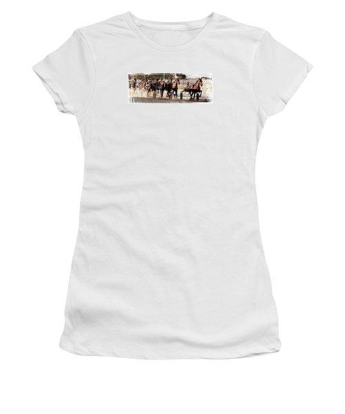 Women's T-Shirt (Junior Cut) featuring the photograph Trotting 3 by Pedro Cardona