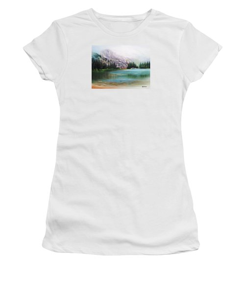 Veil Over Elk Lake Women's T-Shirt (Athletic Fit)