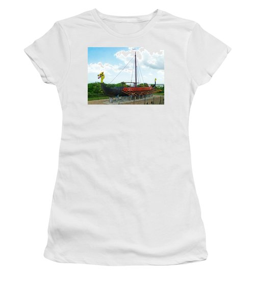 Women's T-Shirt (Junior Cut) featuring the photograph Viking Bay In Broadstairs In England by Steve Taylor