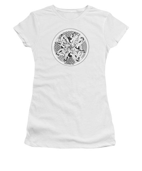 Virgae Women's T-Shirt (Junior Cut) by Rachel Hershkovitz
