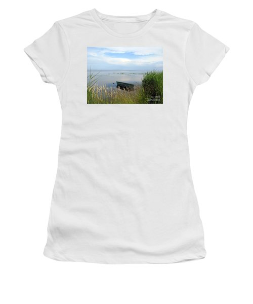 Women's T-Shirt (Athletic Fit) featuring the photograph Waiting For The Nightshift by Ausra Huntington nee Paulauskaite
