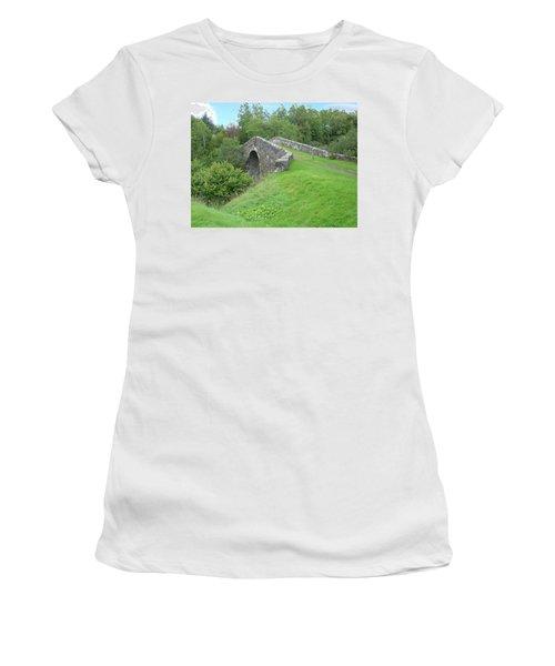 White Bridge Scotland Women's T-Shirt (Athletic Fit)
