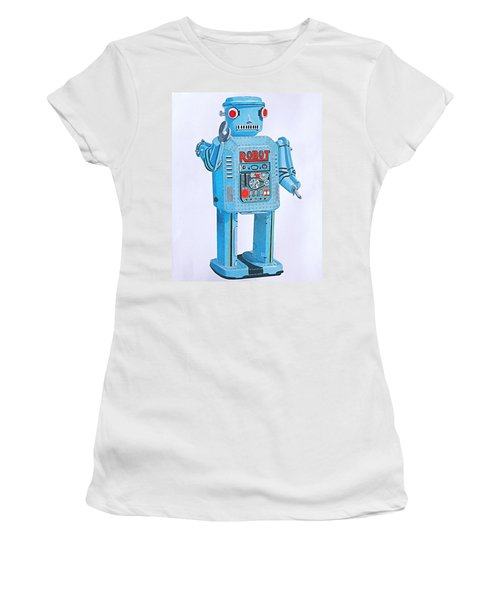 Wind-up Robot Women's T-Shirt (Athletic Fit)
