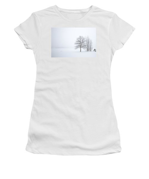Winter Fog And Trees Women's T-Shirt (Athletic Fit)