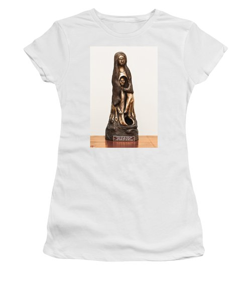 Woman Mourning Her Dead Son Who Died In A War Women's T-Shirt (Athletic Fit)