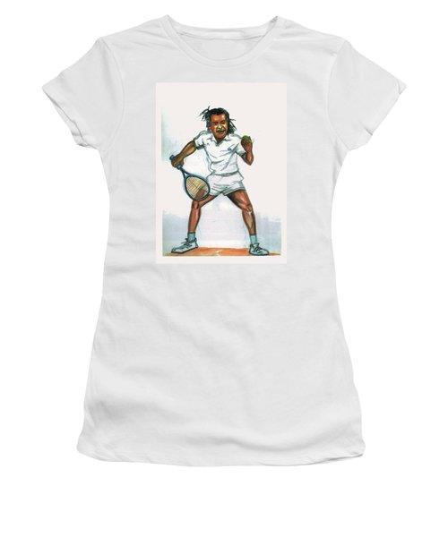 Yannick Noah Women's T-Shirt (Junior Cut) by Emmanuel Baliyanga