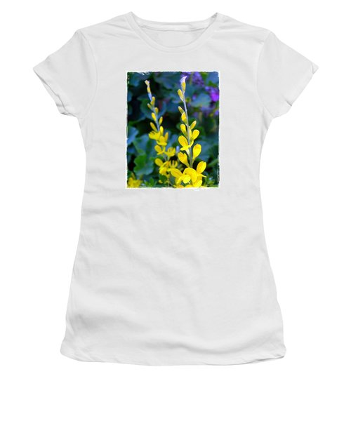 Yellow Plumes Women's T-Shirt (Junior Cut) by Judi Bagwell