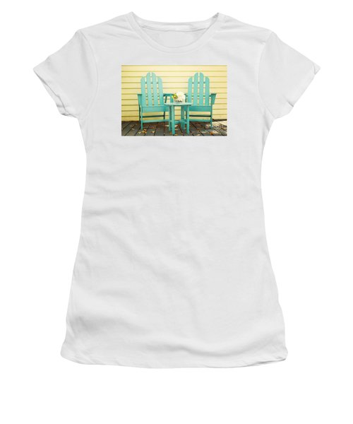 Blue Adirondack Chairs  Women's T-Shirt