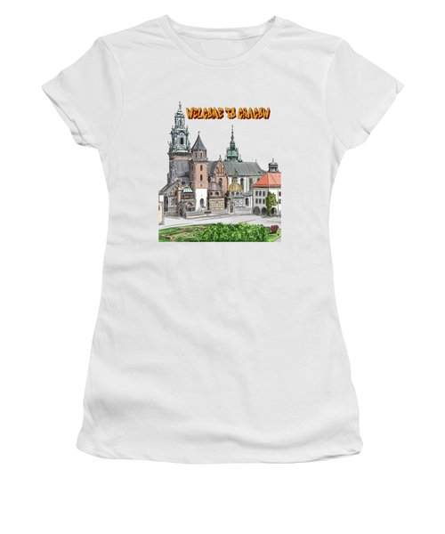 Cracow.world Youth Day In 2016. Women's T-Shirt (Athletic Fit)