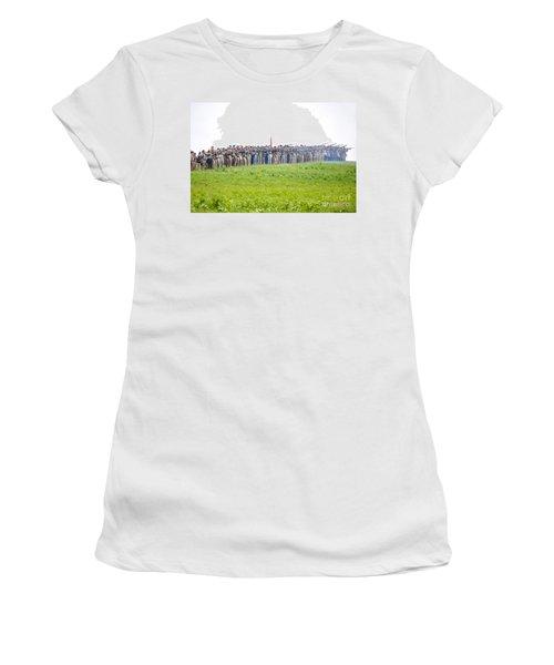Gettysburg Confederate Infantry 0157c Women's T-Shirt