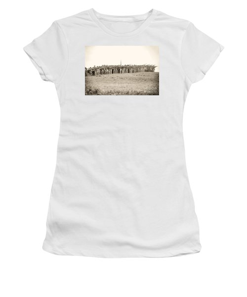 Gettysburg Confederate Infantry 0157s Women's T-Shirt
