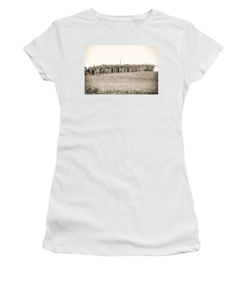 Gettysburg Confederate Infantry 0157s Women's T-Shirt