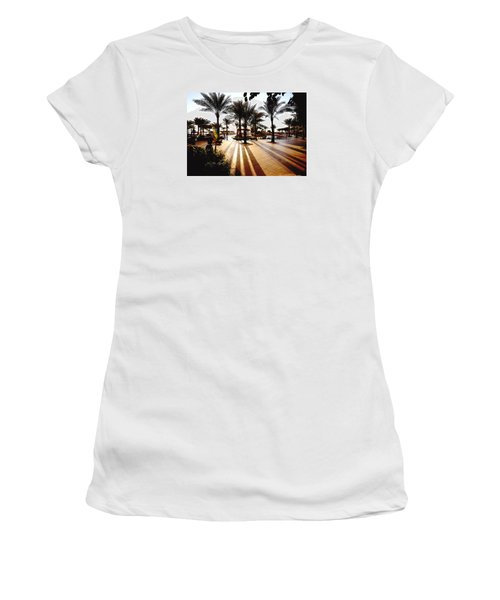 Women's T-Shirt (Junior Cut) featuring the photograph  Silhouettes by Marwan Khoury