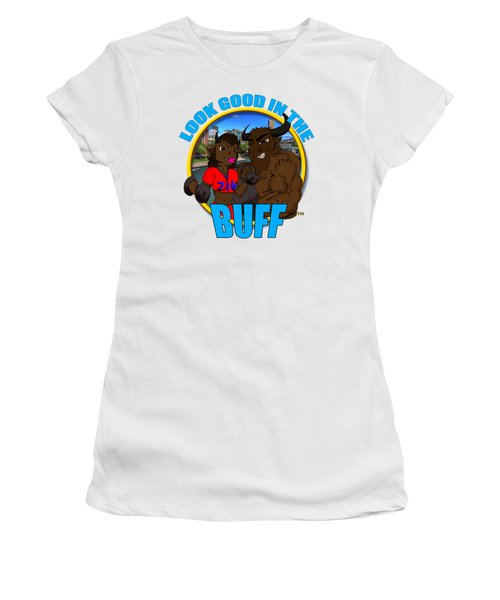 09 Look Good In The Buff Women's T-Shirt (Junior Cut) by Michael Frank Jr