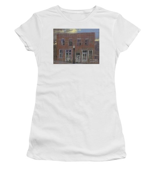 Women's T-Shirt (Junior Cut) featuring the painting Abandoned by Donald Maier