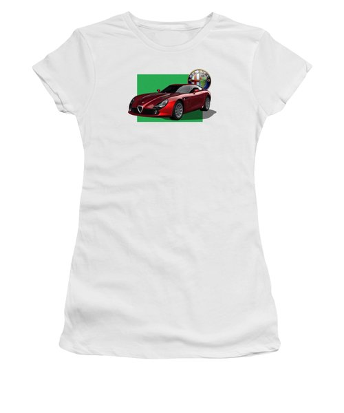 Alfa Romeo Zagato  T Z 3  Stradale With 3 D Badge  Women's T-Shirt