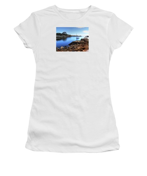 Women's T-Shirt (Junior Cut) featuring the photograph Almost Paradise Newport Ri by Tom Prendergast
