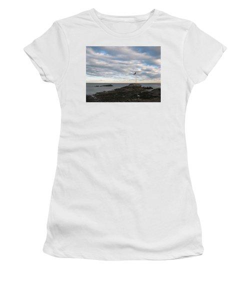 Anchor Beach Women's T-Shirt (Junior Cut) by John Scates