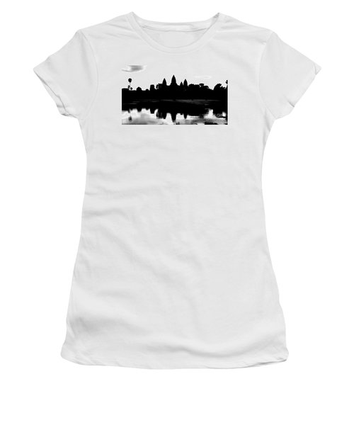 Angkor Wat Black  Women's T-Shirt (Athletic Fit)
