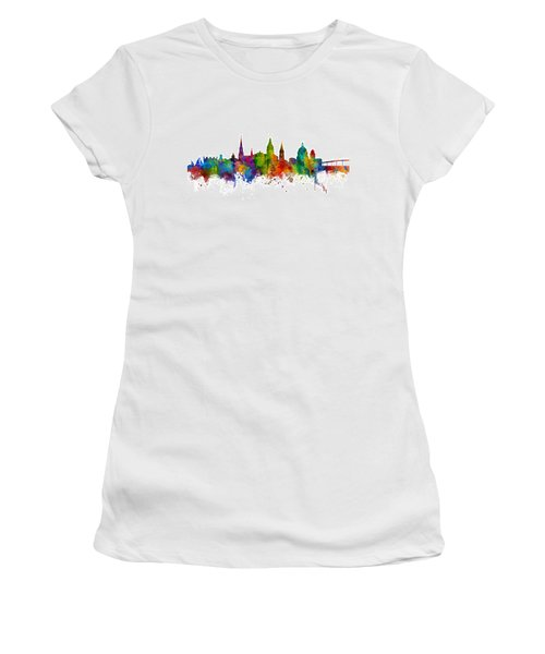 Women's T-Shirt (Junior Cut) featuring the digital art Annapolis Maryland Skyline by Michael Tompsett
