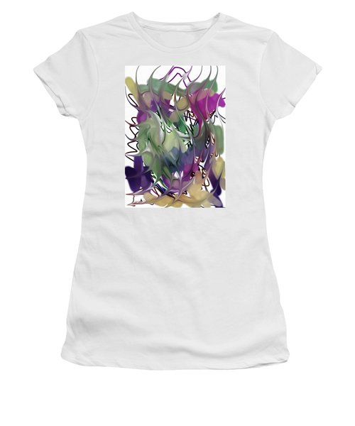 Women's T-Shirt (Junior Cut) featuring the digital art Art Abstract by Sheila Mcdonald