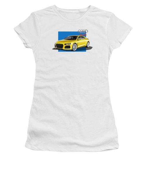 Audi Sport Quattro Concept With 3 D Badge  Women's T-Shirt