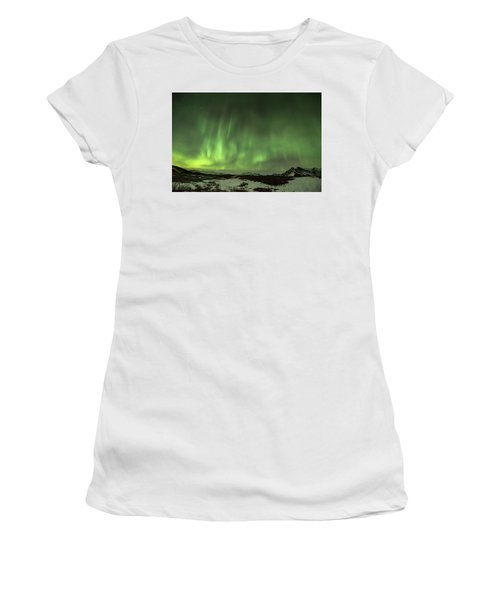 Aurora Borealis Or Northern Lights. Women's T-Shirt (Athletic Fit)