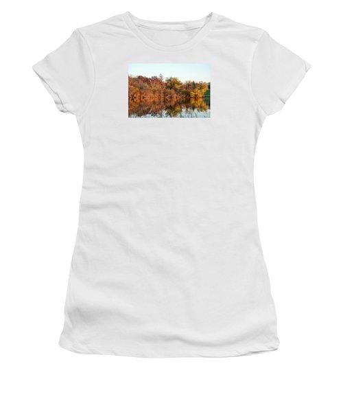 Autumn Reflections Women's T-Shirt (Junior Cut) by Nikki McInnes