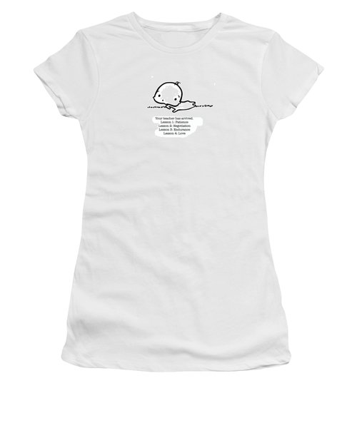 Women's T-Shirt (Junior Cut) featuring the drawing Baby Teacher by Leanne Wilkes