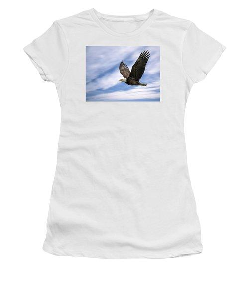 Bald Eagle - 365-12 Women's T-Shirt (Junior Cut) by Inge Riis McDonald