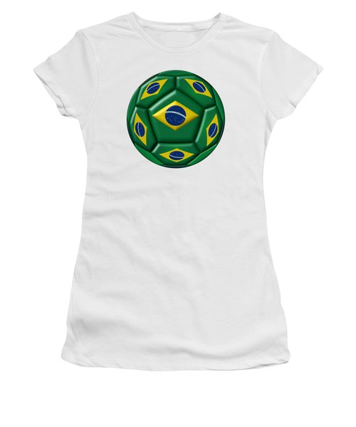 Ball With Brazilian Flag Women's T-Shirt