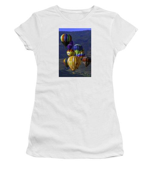 Balloons Over Reno Women's T-Shirt (Junior Cut) by Dorothy Cunningham