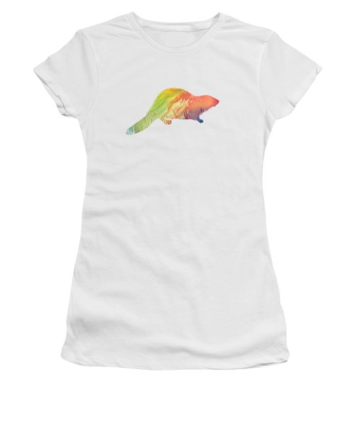 Beaver Silhouette Women's T-Shirt (Athletic Fit)
