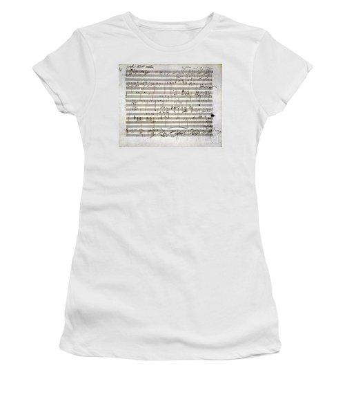 Beethoven Manuscript Women's T-Shirt